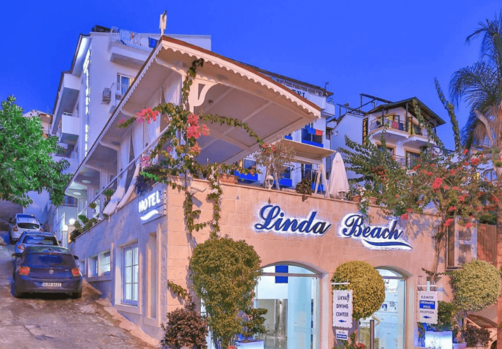 linda beach otel kaş